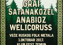 GRAI, SatanaKozel, Welicoruss are going to held a concert in Belgrade at Club Fest on October 1st!