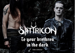 """Satyricon release teaser for the new song """"To your brethren in the dark""""!"""